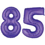 purple number 85 balloon large 85th birthday balloons
