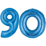 Large Blue Number 90 Balloon