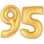 Gold Number 95 Balloons, 40