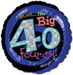 Oh No the Big 40 Balloon