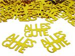Happy Birthday Confetti German | Gold Words Alles Gute Confetti