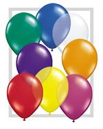 Earth Friendly Jewel Tone Latex Balloons, 11