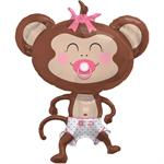 Baby Girl Monkey Balloon