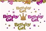 Birthday Girl Confetti, Metallic