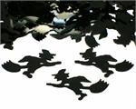 Black Halloween Witch Shaped Confetti
