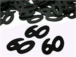 Black Number 60 Party Confetti Bulk or Packet