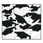Black and White Graduation Confetti