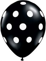 Black Balloon with white polka dots. 11