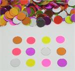 Bright Neon Round Confetti Mix