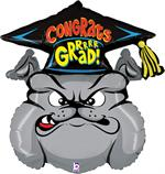 Bull Dog Graduation Balloon