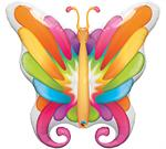 Butterfly Balloon, Brilliant Colors Butterfly Shaped Mylar Balloon