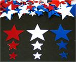 Red, White and Blue Star Confetti Mix, Metallic Confetti