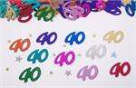 40th Confetti, Metallic Multicolored