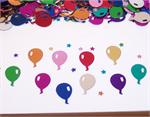 Multi Colored Balloons and Stars Confetti