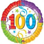 100th Birthday Balloon Bright Colors
