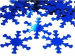 Blue Snowflake Confetti Metallic Wholesale