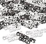 Congrats Grad Confetti, Black and White Graduation Confetti