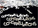 Silver Words Congratulations Metallic Bulk