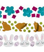 Easter Confetti, Bunnies, Chicks and Flowers