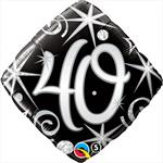 Elegant 40th Birthday Mylar Balloon
