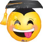Emoji Graduation Balloon Mylar