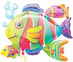Tropical Fish Balloons Bundle with Bubbles