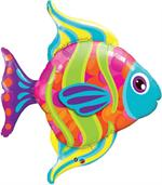 Rainbow Fashion Fish Mylar Balloon, large