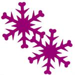 Fuchsia Snowflake Confetti by the Pound or Packet