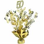 Gold 50th Centerpiece