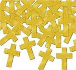 Shiny Gold Cross Confetti