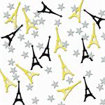 Eiffel Tower Confetti Gold and Black