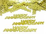 Happy Anniversary Confetti Gold Metallic Bulk