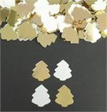 Gold and White Christmas Tree Confetti