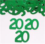 Green Metallic Number 20 Confetti