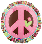 Peace Sign Mylar Balloon