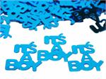 Metallic Blue It's a Boy Confetti Bulk or Packet