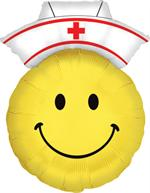 Large Nurses Smiley Face Balloon