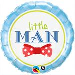Little Man Balloon Cute Mylar Balloon with a Polka Dot Bow Tie