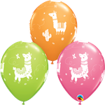 Llama Party Balloons Biodegradable