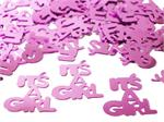 Metallic Pink It's a Girl Party Confetti