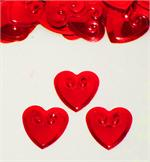 Metallic Red Heart Confetti Bulk