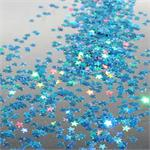 Bulk Prismatic Star Confetti light blue