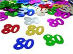 Number 80 Confetti, 80th Birthday
