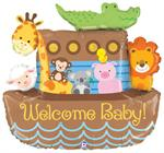 Noahs Ark Balloon Baby Shower Theme
