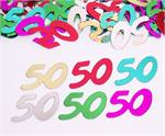 Metallic Number 50 Confetti MultiColor