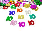 Number 10 Confetti Multi-color Metallic Bulk