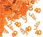 Orange Number 40 Confetti
