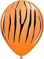 Orange Tiger Stripe Balloons 10 Count