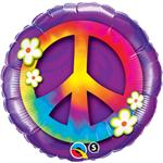 Peace Sign and Daisies Balloon