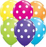 Polka Dot Balloons, Tropical Colors Biodgradable